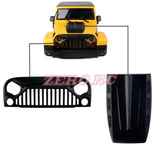 JK Body bonnet cover and angry eye grill set