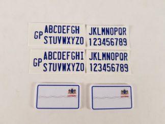 Number Plate - Gauteng - Short