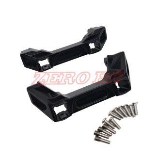 TRX4 Aluminium Bumper mounts - BLACK